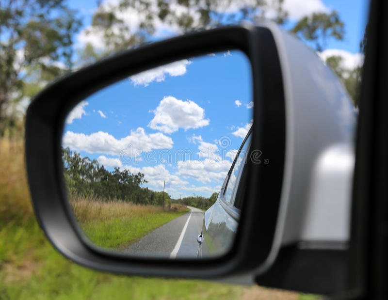 镜子背面图 库存照片