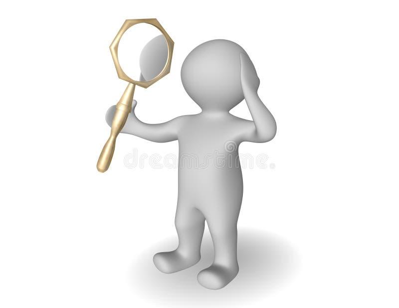 镜子虚荣 向量例证