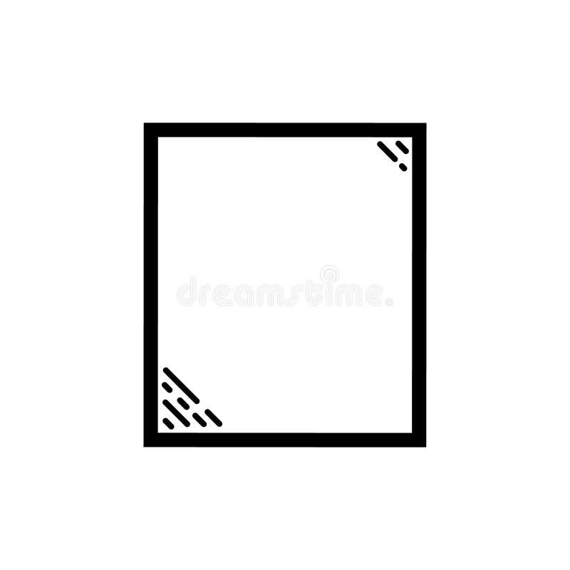 镜子象传染媒介象 镜子标志设计 能为网和机动性使用 库存例证