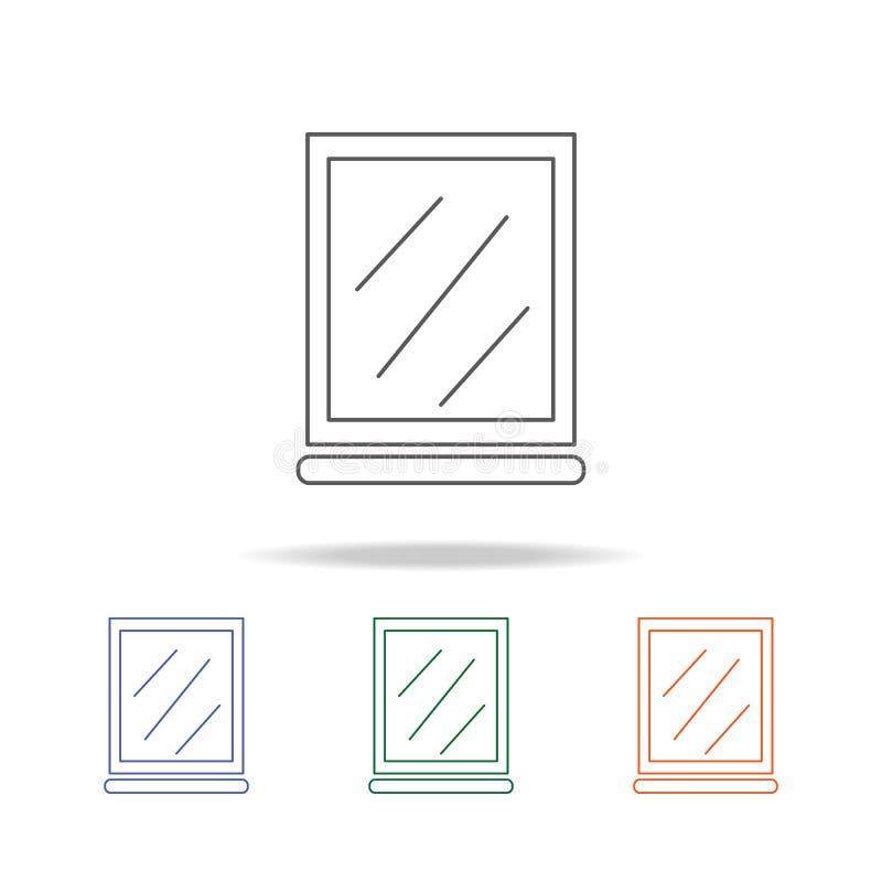 镜子象 卫生间的元素用工具加工流动概念和网apps的多色的象 网站设计和发展的象 皇族释放例证