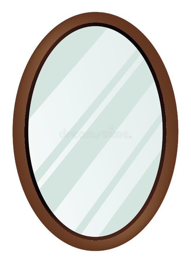 镜子长圆形 库存例证