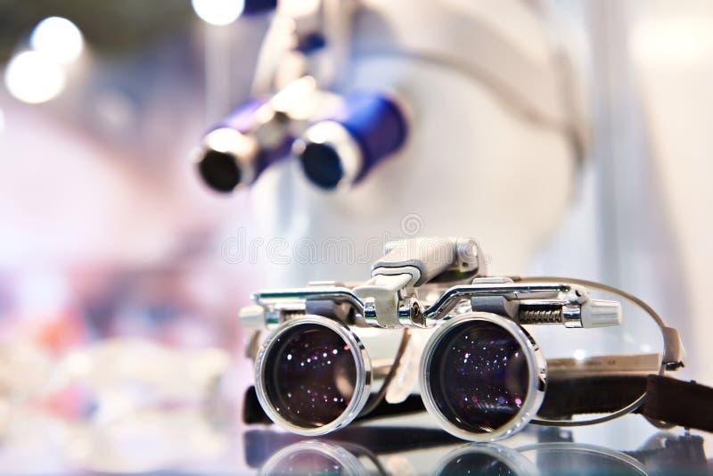 镜片的眼科透镜 库存照片