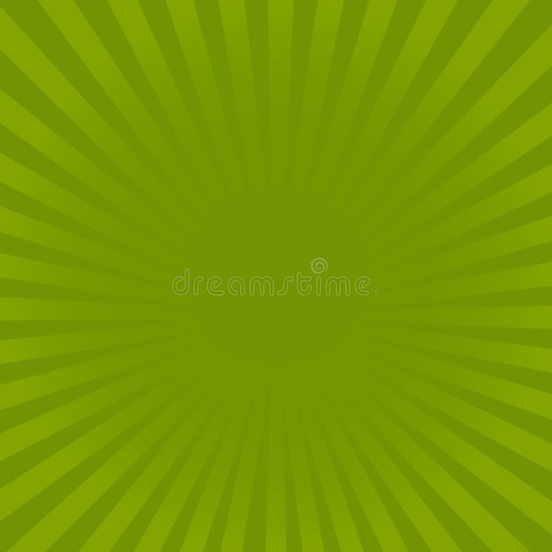 镶有钻石的旭日形首饰的绿色光芒样式 辐形镶有钻石的旭日形首饰的光芒背景传染媒介例证 皇族释放例证