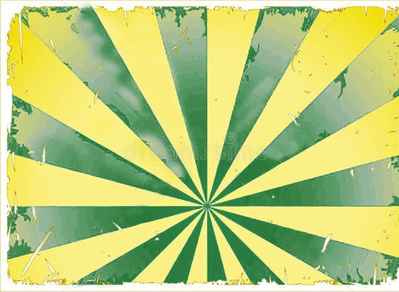镶有钻石的旭日形首饰的starburst光例证 免版税库存照片