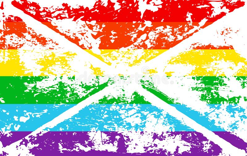 镶边彩虹纹理同性恋自豪日旗子lgbt社区 传染媒介标志快乐自豪感 标志难看的东西设计样式flye的设计元素 库存例证