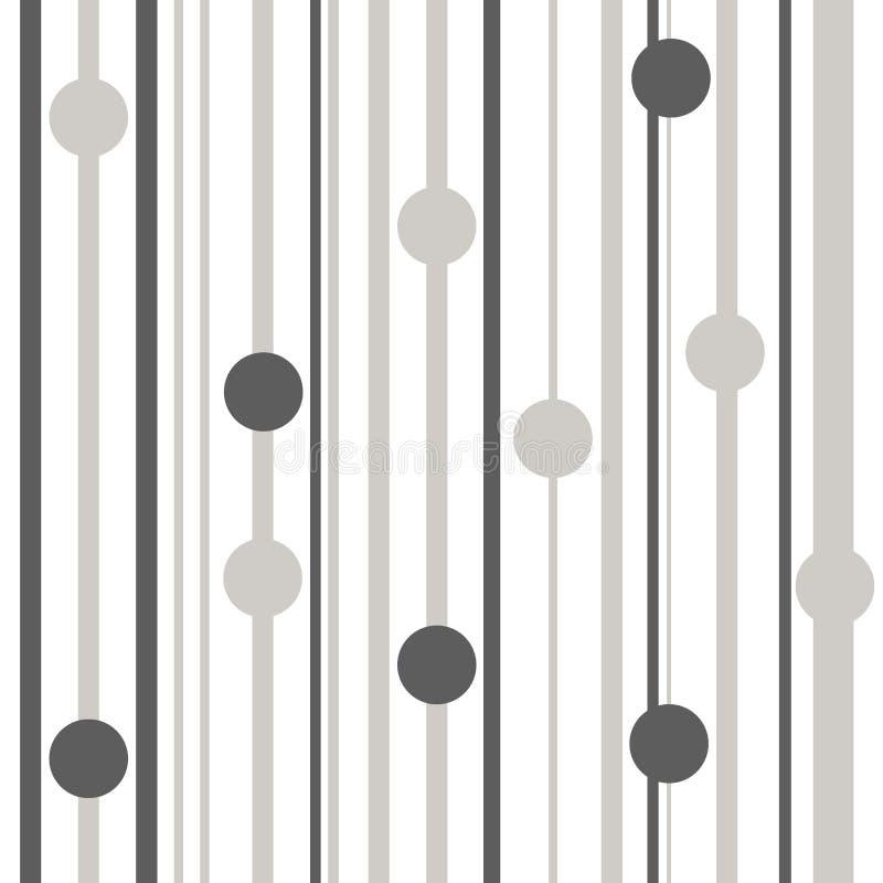 镶边无缝的样式灰色和空白线路颜色传染媒介例证 向量例证