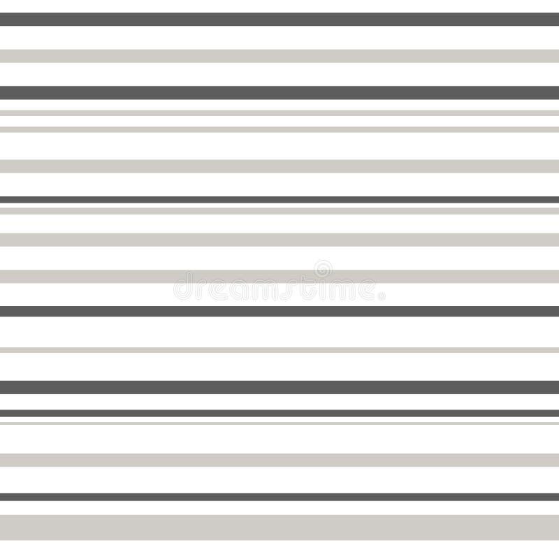 镶边无缝的样式灰色和空白线路颜色传染媒介例证 皇族释放例证