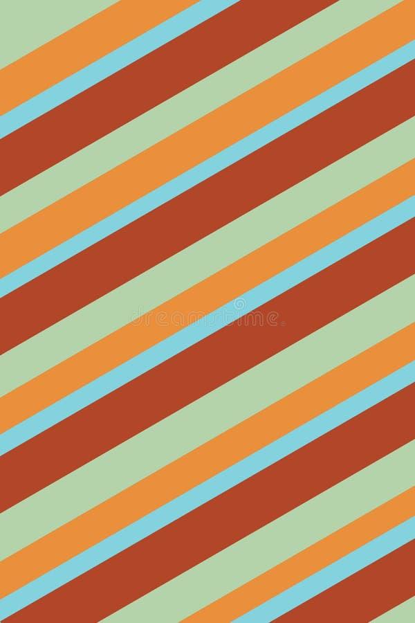 镶边橙色,绿色和蓝色背景纹理 皇族释放例证