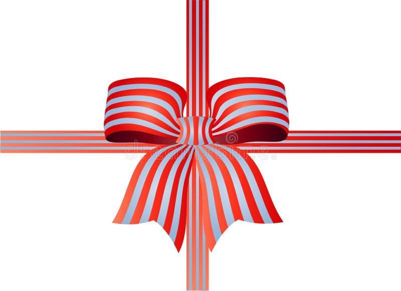 镶边的弓丝带 皇族释放例证