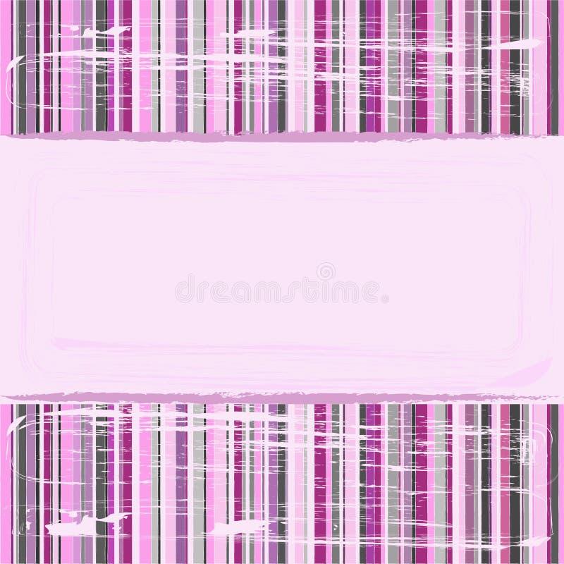 镶边的背景粉红色 向量例证