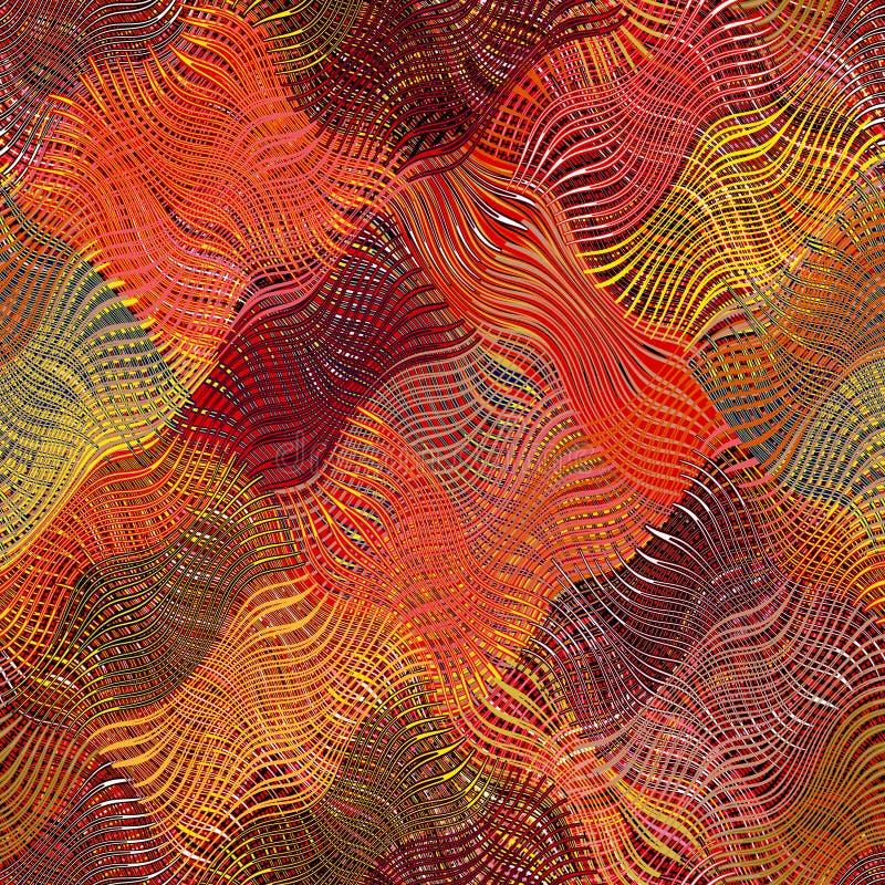 镶边的难看的东西,对角线,被子,波浪布料五颜六色的pa 库存例证