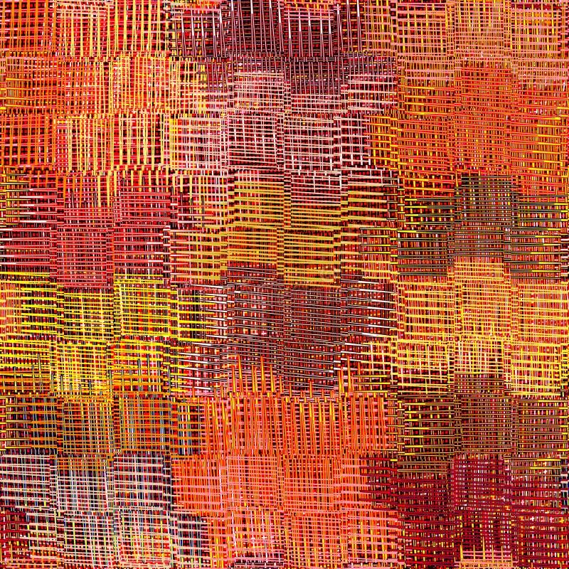 镶边的难看的东西,方格,波浪织法五颜六色的布料 皇族释放例证