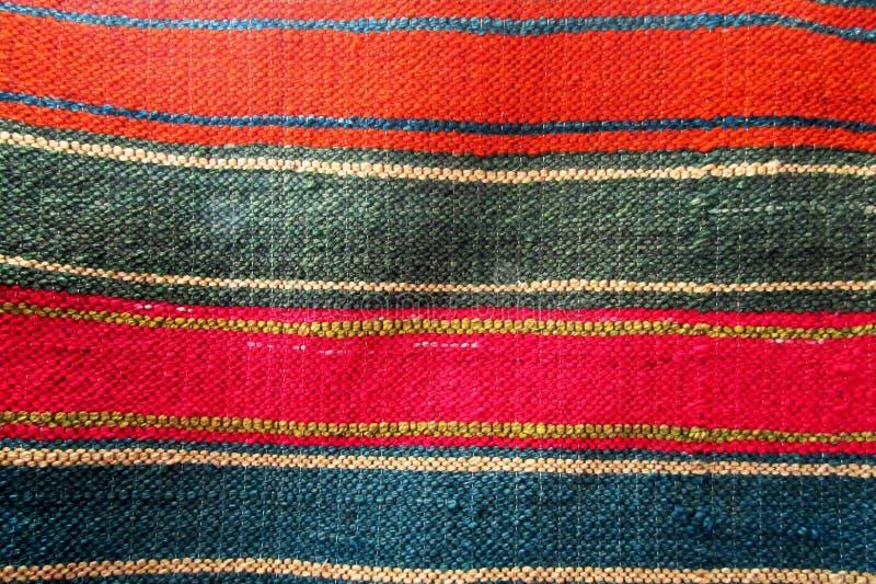 镶边的,多彩多姿的地毯 免版税库存照片