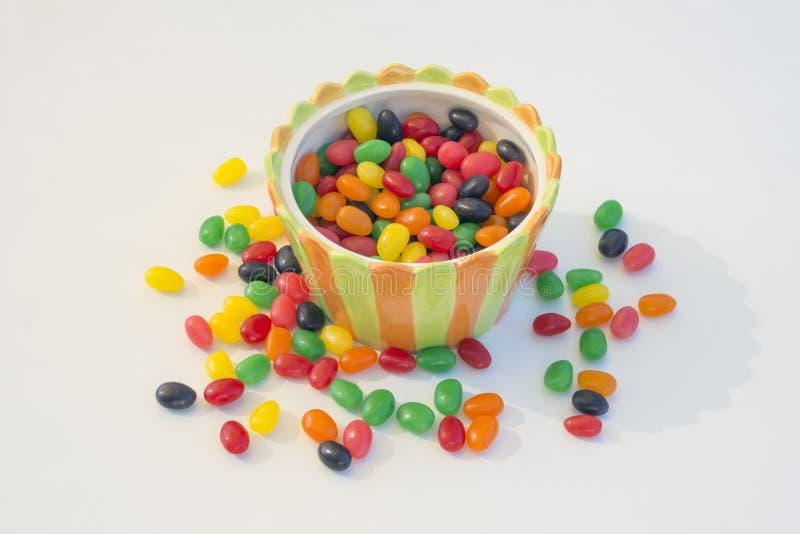 镶边糖果碗 免版税库存图片