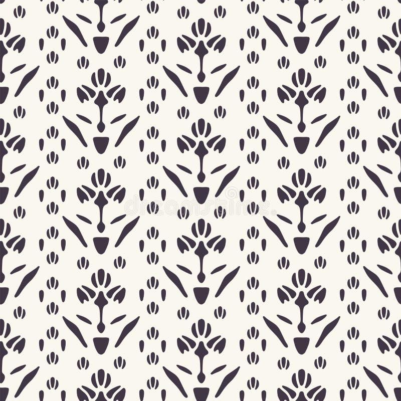 镶边花卉主题波斯样式 r 种族民间艺术纺织品样片 经典锦缎家装饰 向量例证