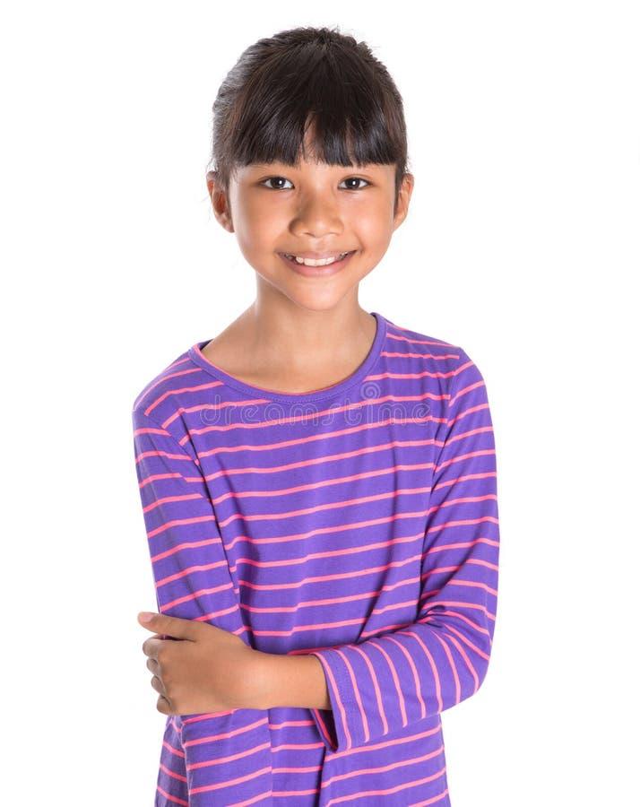 镶边衬衣的II女孩 免版税库存照片