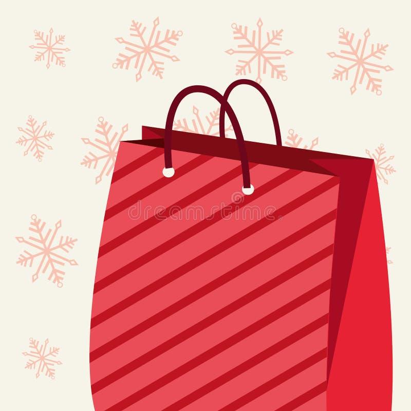 镶边购物带来圣诞节雪花 皇族释放例证