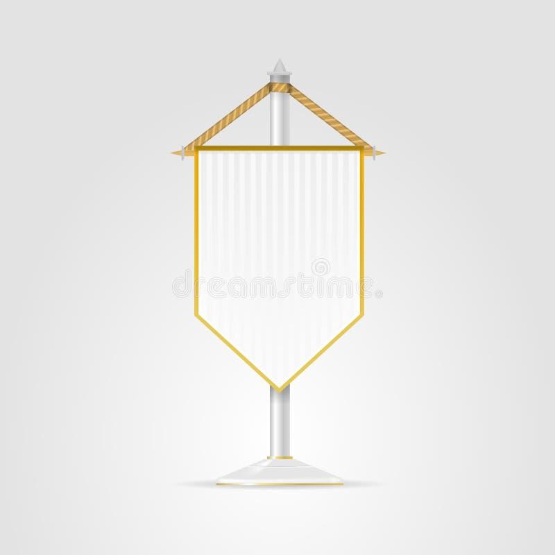 细长三角旗的例证 皇族释放例证