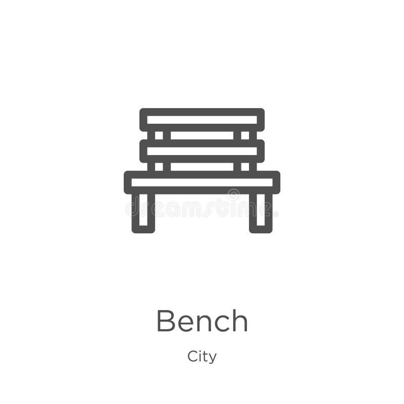 长凳从城市汇集的象传染媒介 稀薄的线长凳概述象传染媒介例证 概述,稀薄的线长凳象为 向量例证