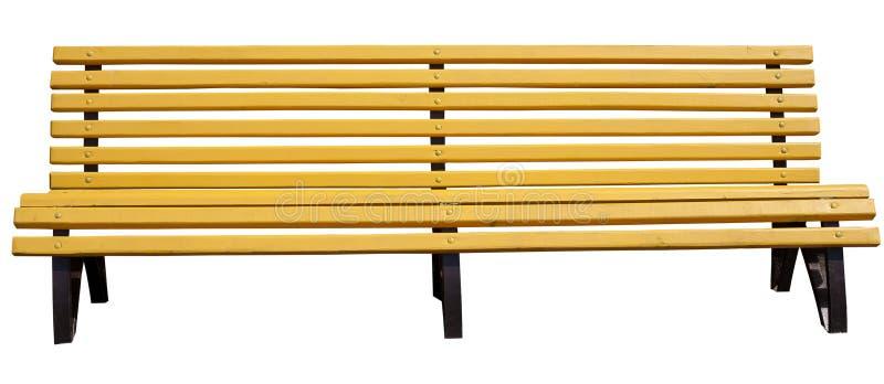 长凳公园黄色 免版税图库摄影