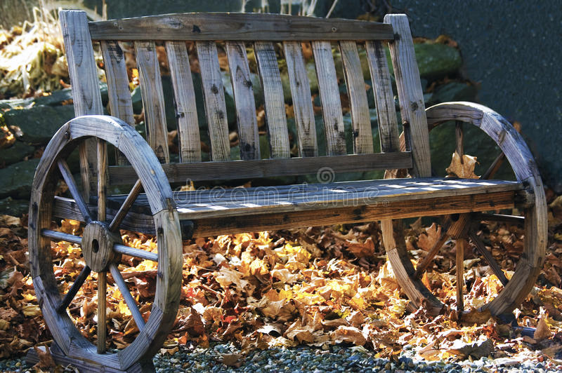 长凳木头 库存图片