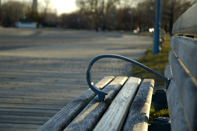 长凳木板走道 库存图片