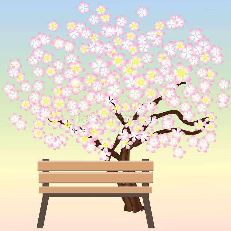 长凳结构树 向量例证