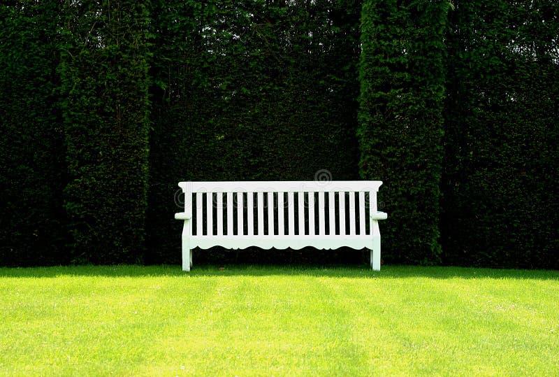 长凳英语庭院 库存图片