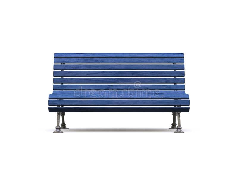 长凳蓝色老公园 向量例证
