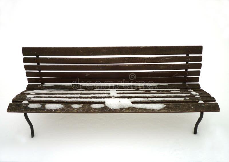 长凳雪 免版税图库摄影