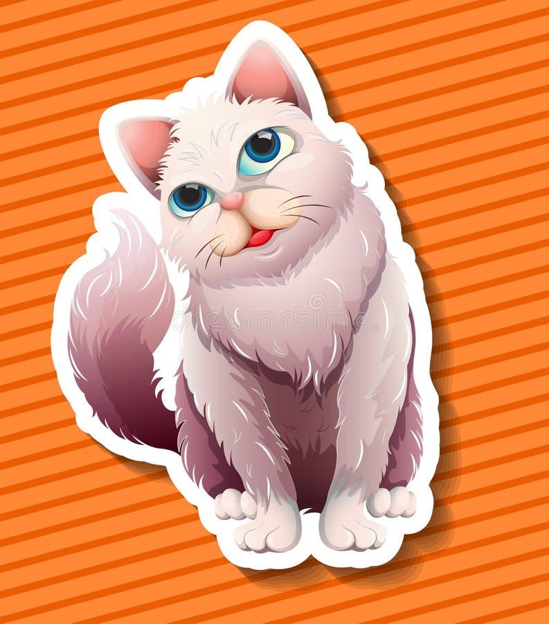 长发猫微笑 向量例证