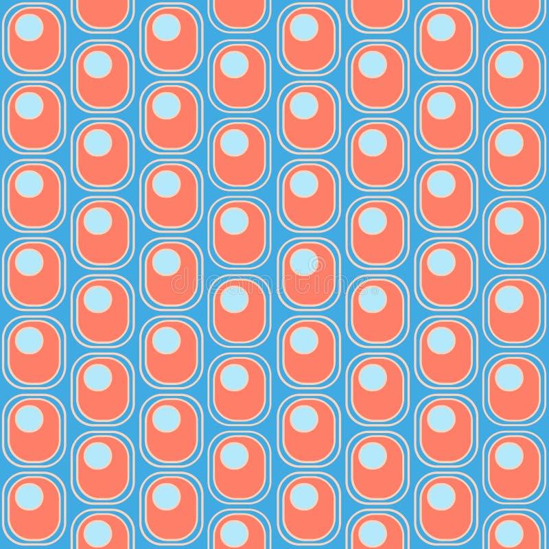 长圆形和圈子的样式 皇族释放例证