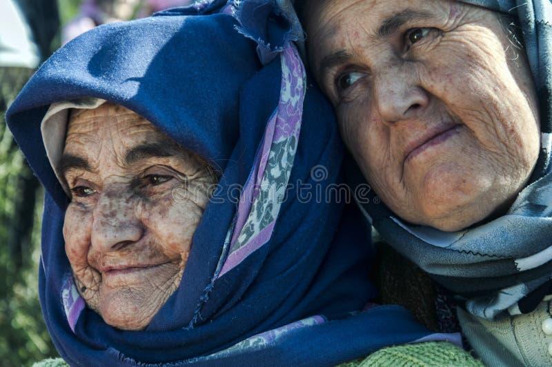 年长土耳其妇女 库存照片