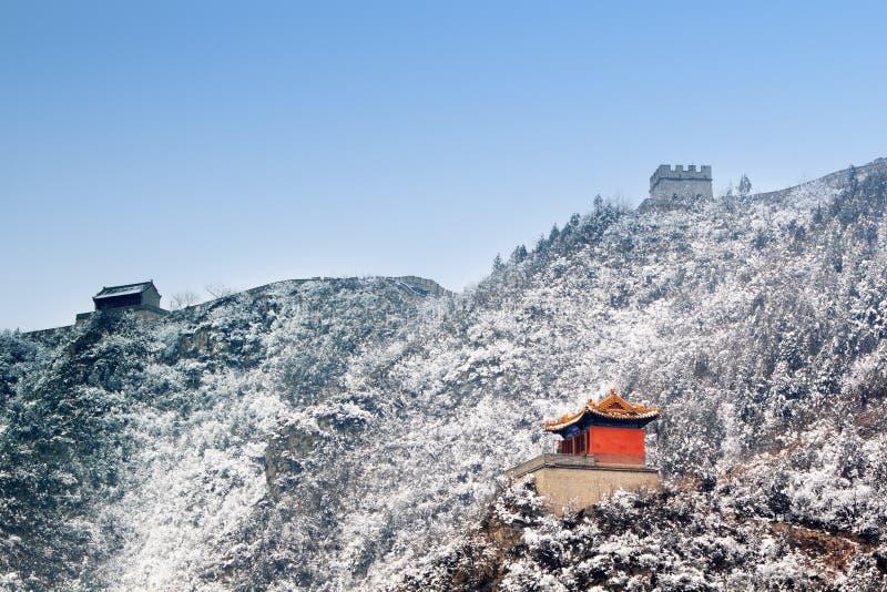 长城冬天 库存照片
