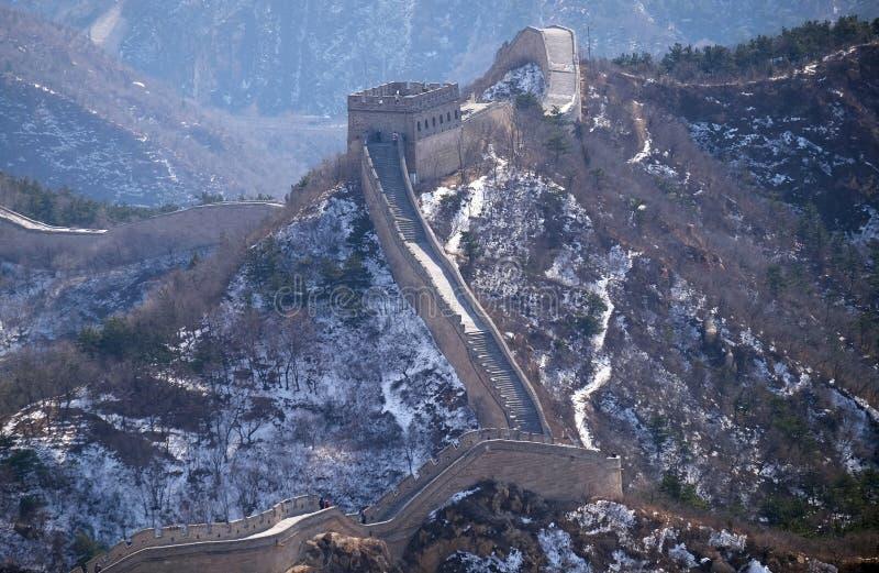 长城在八达岭,中国 免版税库存照片