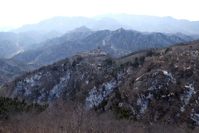 长城在八达岭,中国 库存图片