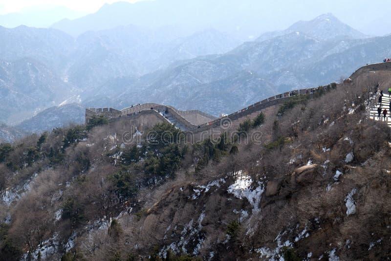 长城在八达岭,中国 库存照片