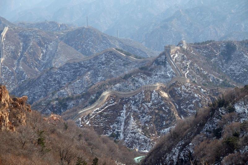 长城在八达岭,中国 免版税图库摄影