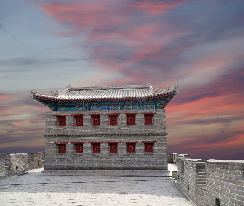 长城,在北京北部 库存图片