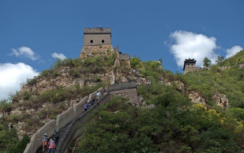 长城,居庸关,中国 免版税库存照片