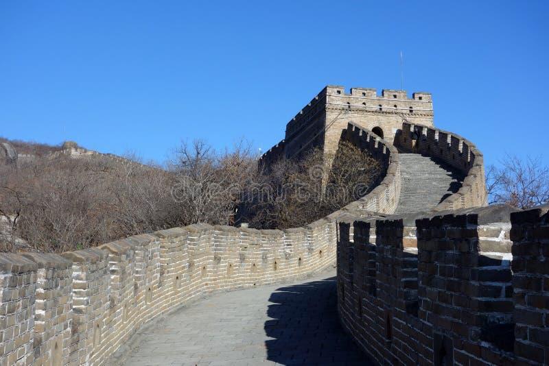 长城, Mutianyu,北京,中国 免版税图库摄影