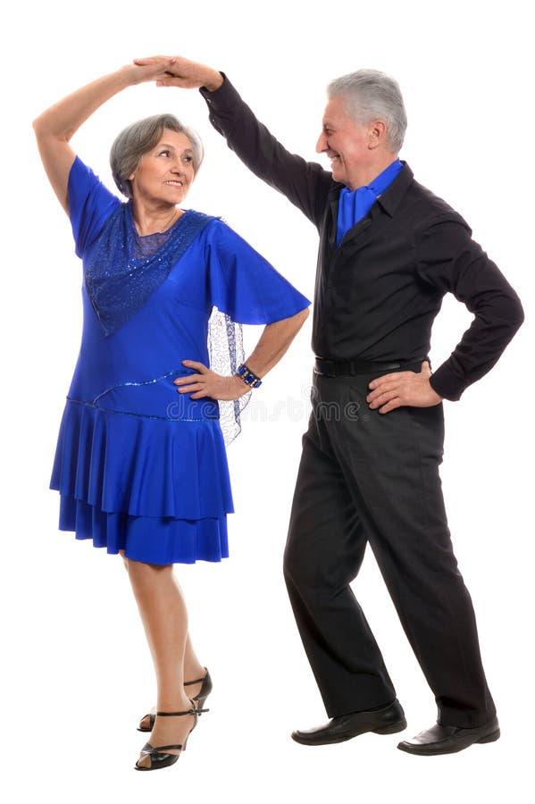 年长夫妇跳舞 免版税库存照片