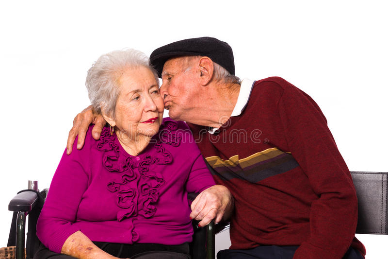 年长夫妇 库存照片