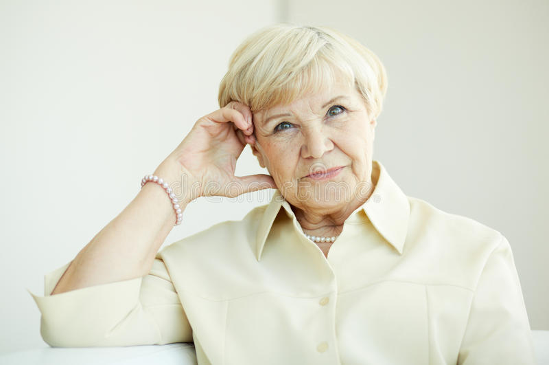 年长妇女 免版税图库摄影