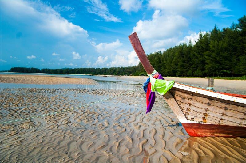 长尾巴小船,普吉岛,泰国 库存图片
