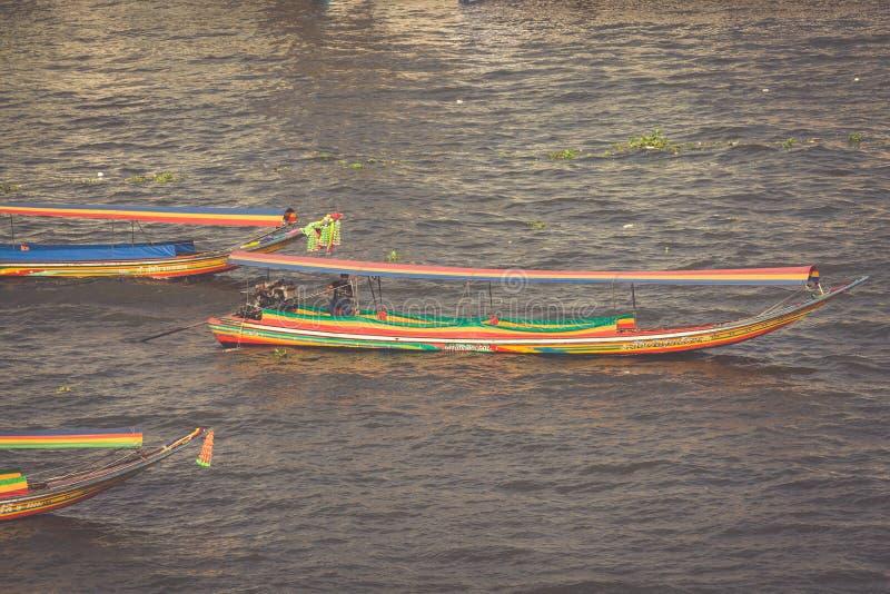 长尾巴小船,泰国, 图库摄影