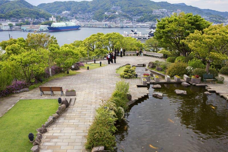长崎,日本,手套贩卖商庭院 库存照片