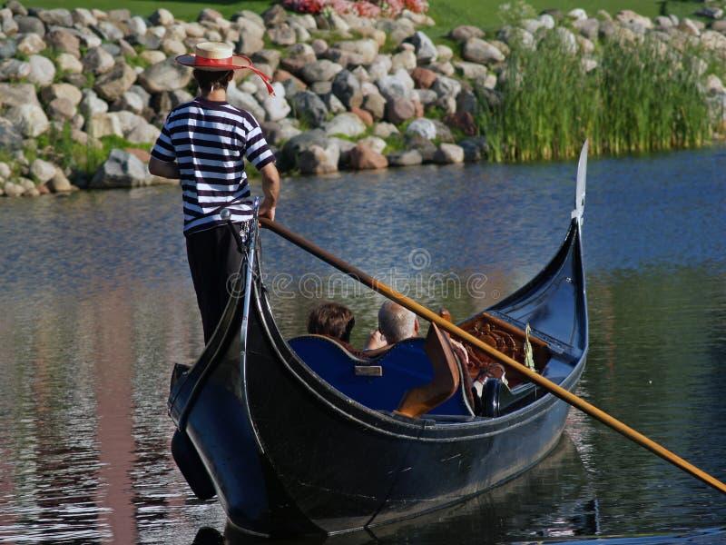长平底船乘驾 库存照片