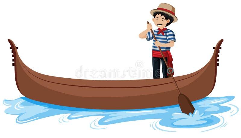 长平底船在威尼斯意大利 皇族释放例证