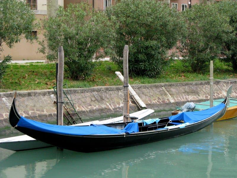 长平底船在威尼斯意大利 免版税图库摄影